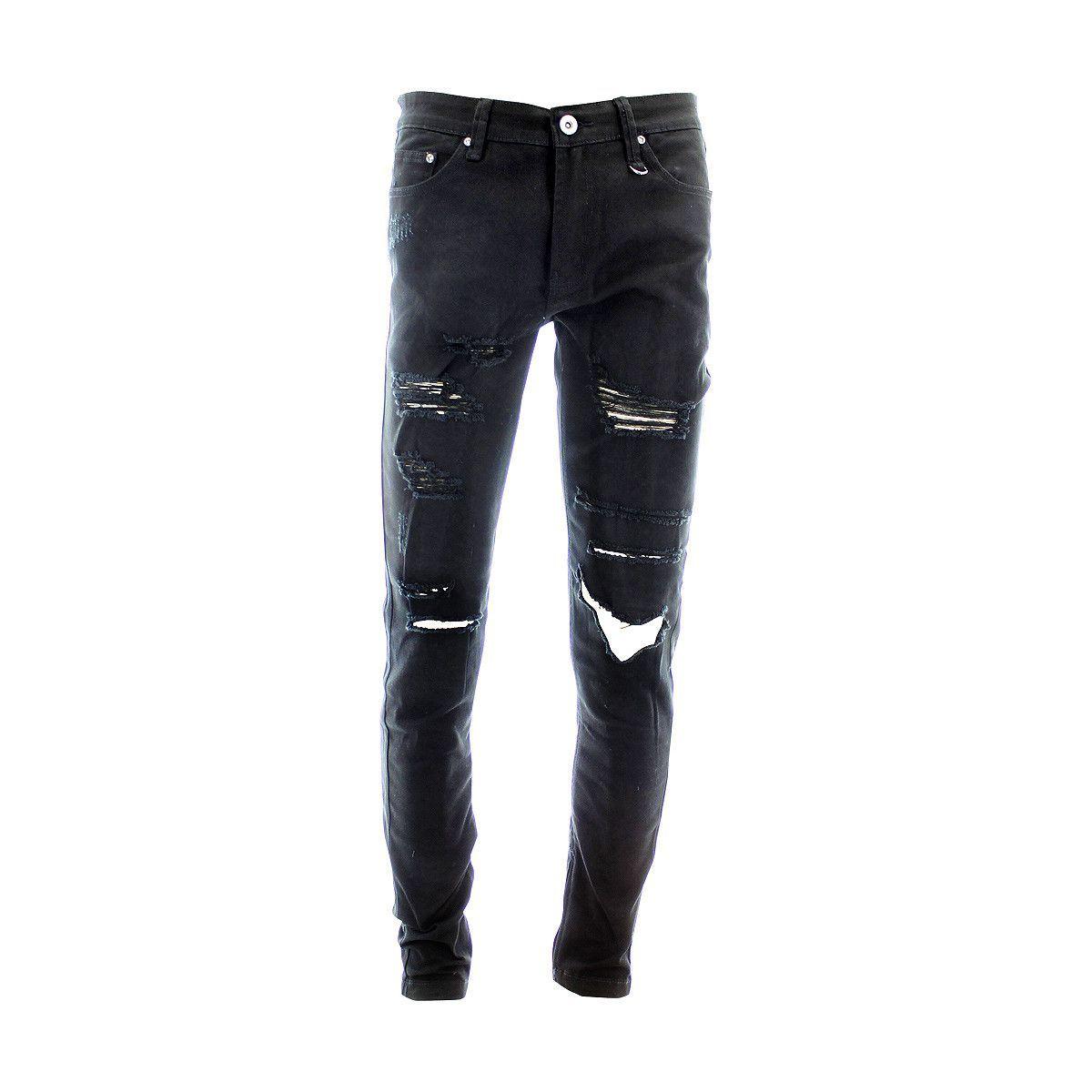 Kayden K Men S Rips Zip Bottom Skinny Jeans Black Ripped Jeans Men Black Jeans Boys Skinny Jeans Men [ 1200 x 1200 Pixel ]