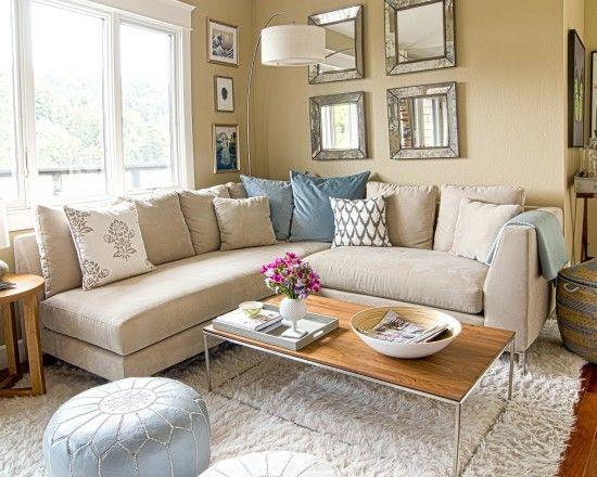 Contemporary Living Room Small Living Room Design like colors - wohnzimmer grau rosa