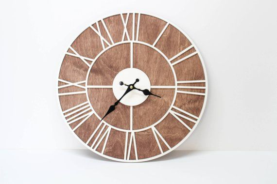 Big Wall Clocks For Living Room Entertainment Roman Clock Laser Cut 15 7 Diameter Large Art Larg