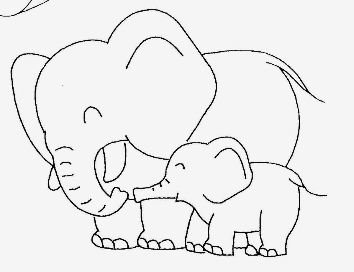 Baby Elephant Template | Baby Elephant Coloring Pictures | Cute ...