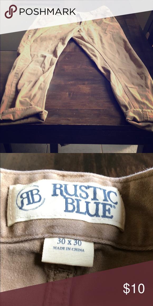 I Am Selling Khaki Pants Rustic Blue 30 X 30 Brownish Tan Color Rustic Blue Jeans Straight Leg Rustic Blue Clothes Design Tan Color