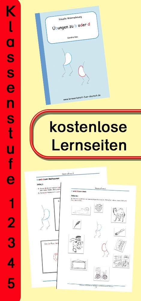 Leseprobe: Übungen zu b oder d – Deutsch | Arbeitsblätter ...
