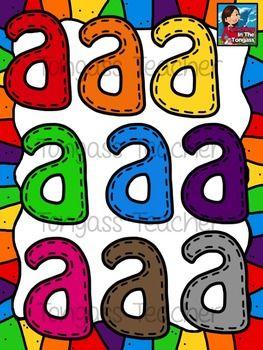 Stitched Lowercase Letters Clipart Tpt Clip Art Pinterest Clip