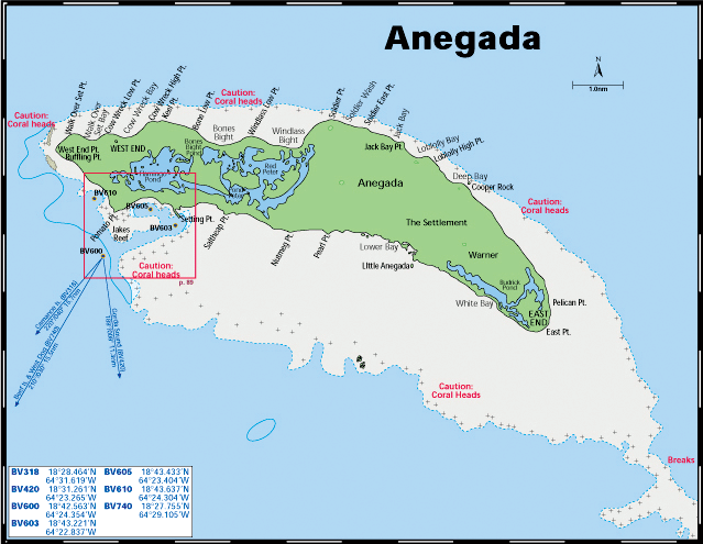 Anegada is a small island part of us british islands with 11169