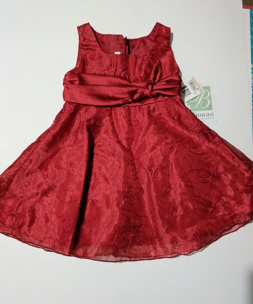 2acbc8048d88 Christmas Holiday toddler girl fancy party dress 2 T Bonnie Jean boutique  #BonnieJean #Party