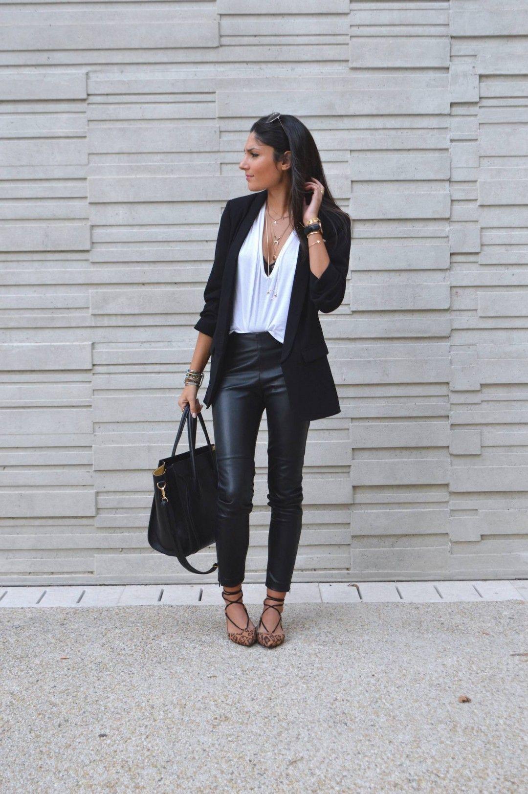 blog mode id e tenue pantalon cuir pantalons pinterest. Black Bedroom Furniture Sets. Home Design Ideas