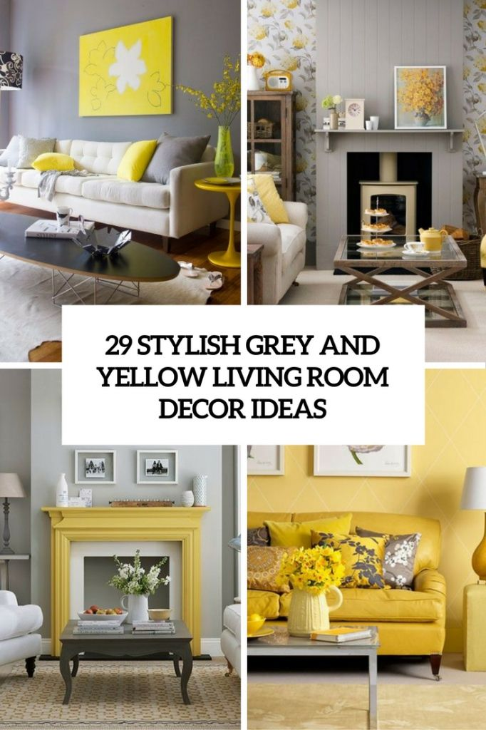 awesome yellow and grey living rooms regarding The house Check more