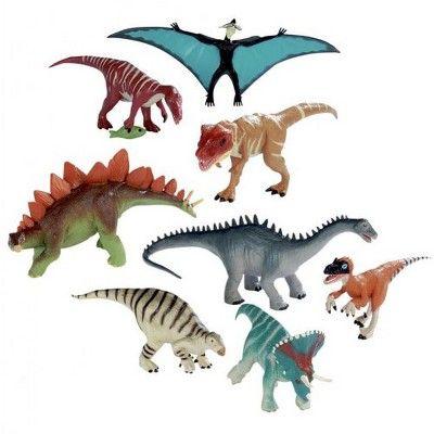 Wild Republic 8 Piece Dinosaur Collection Little live