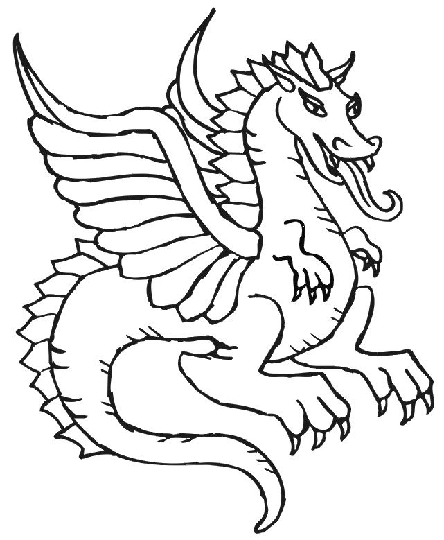 Dragon Coloring Pages Advanced | coloring!... | Pinterest | Dragons ...