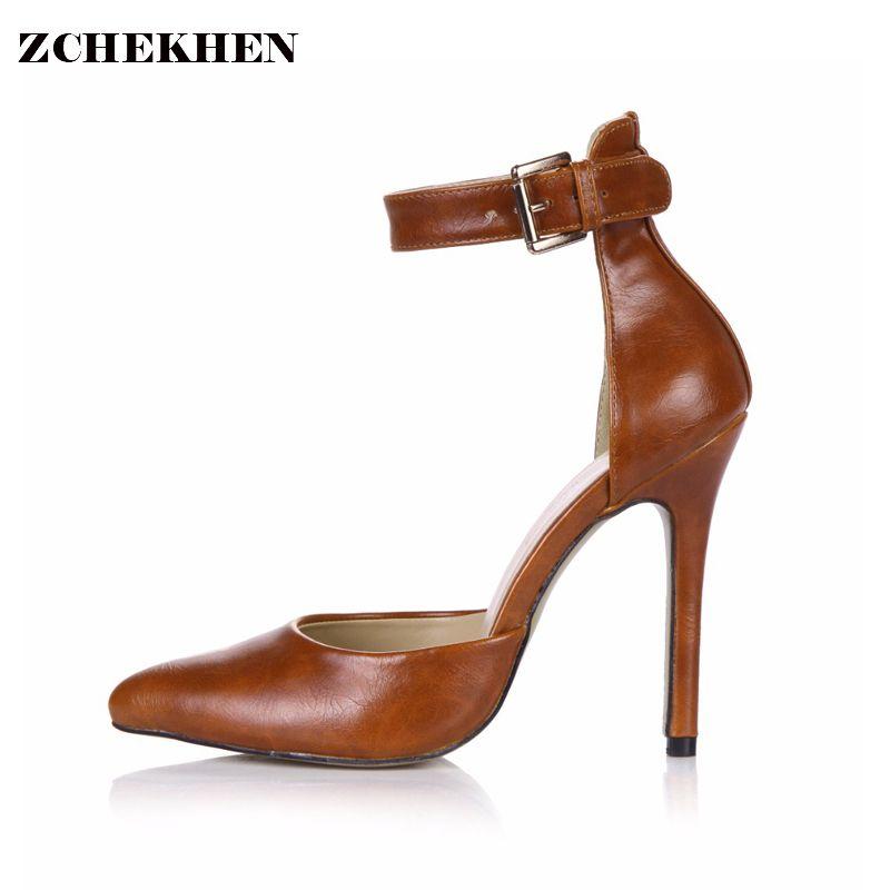 479ea68a089c0 Paris Fashion 2018 Spring Ankle Boots Summer Party Wedding Pumps Women  Stilettos thin High Heel Shoes