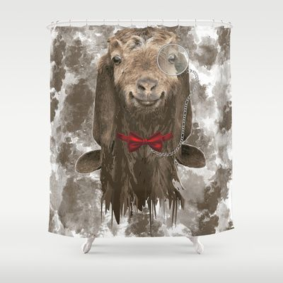 The GOAT Shower Curtain By Goatlady