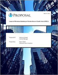 View Commercial Property Rental Sample Proposal Sample Real Estate