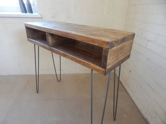 Standing Desk Console Table Industrial Retro Rustic Made To