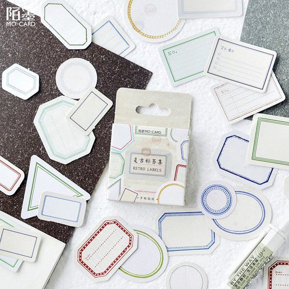 46pcs label stickers to do stickers vintage tag sealing sticker sticker flakes Planner Sticker  Products