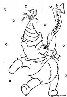 Winnie The Pooh Happy Birthday Coloring Pages Collection