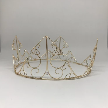 Deluxe Sleeping Beauty Crown Wire Crown Jewelry Crafts Fantasy Jewelry