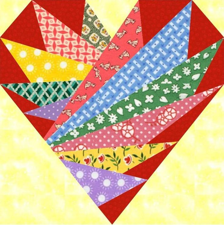 Feathers In My Heart Paper Pieced Block Pattern. | Patterns 3 ... : heart quilt block patterns - Adamdwight.com