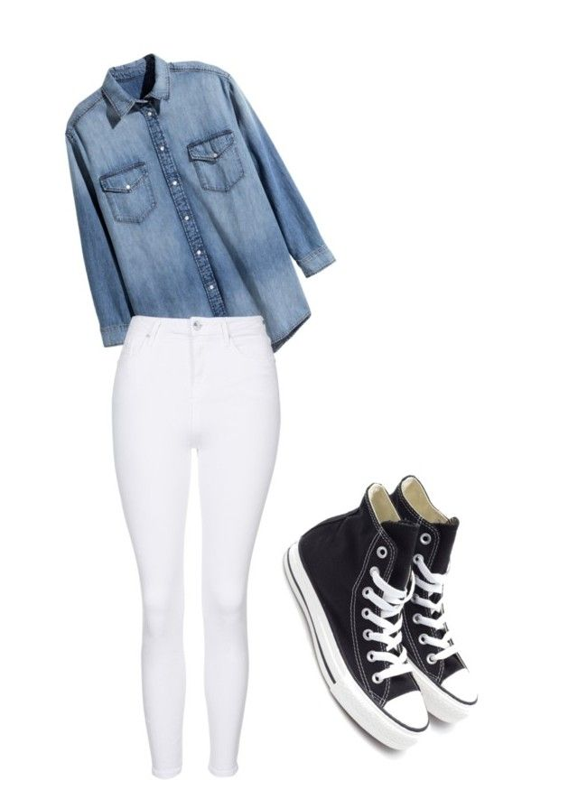 """""""Birthday Outfit"""" by aaccooper on Polyvore featuring Converse, H&M and Topshop"""