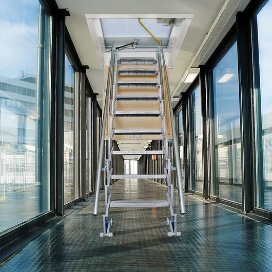 Best Scissor Stairs In 2020 Stairs Loft Ladder Wooden Ceilings 640 x 480