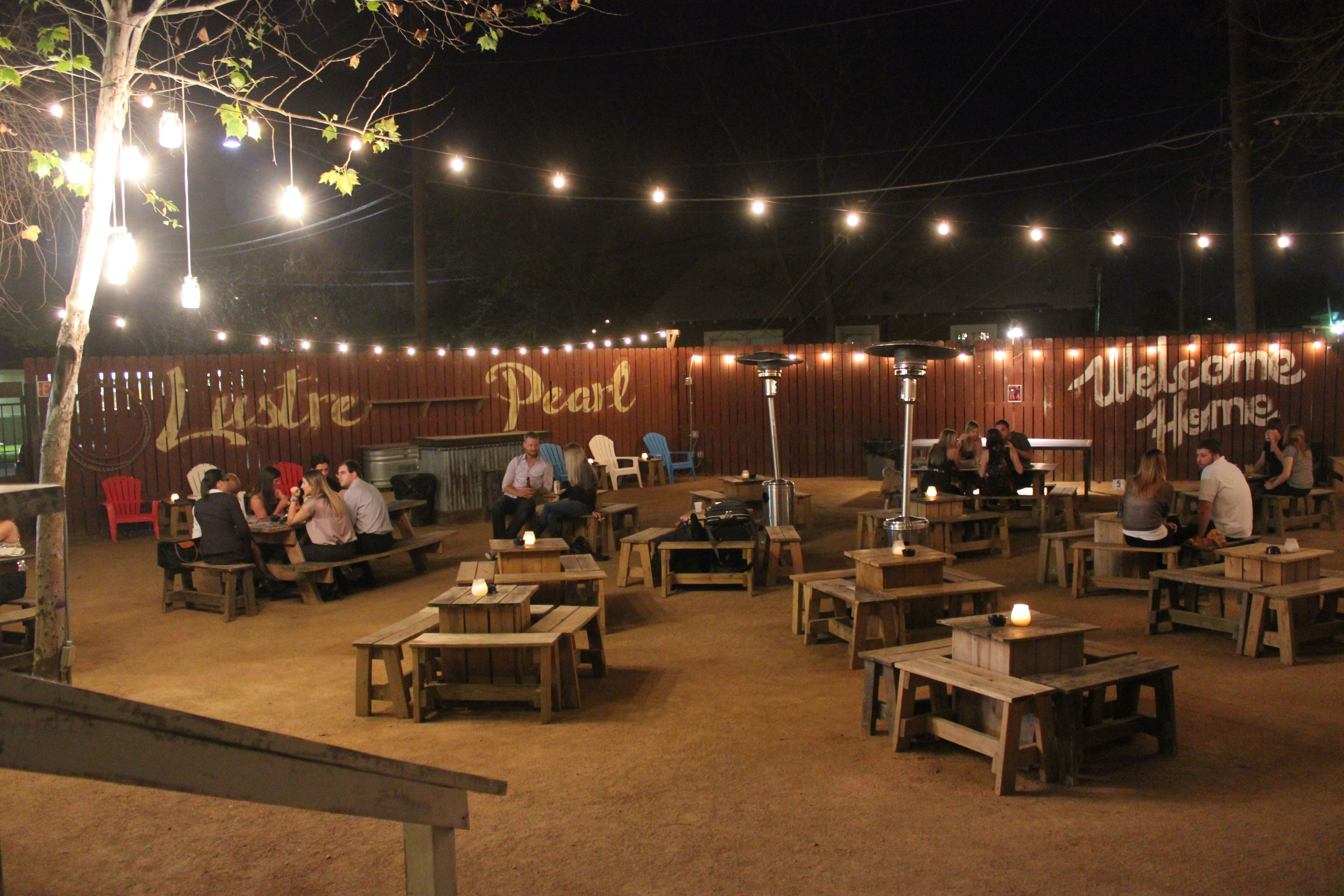 lustre pearl for the ultimate austin backyard bar experience with