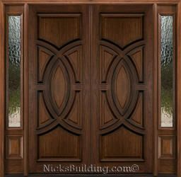 Mahogany Double Doors With Sidelights In 8ft Height