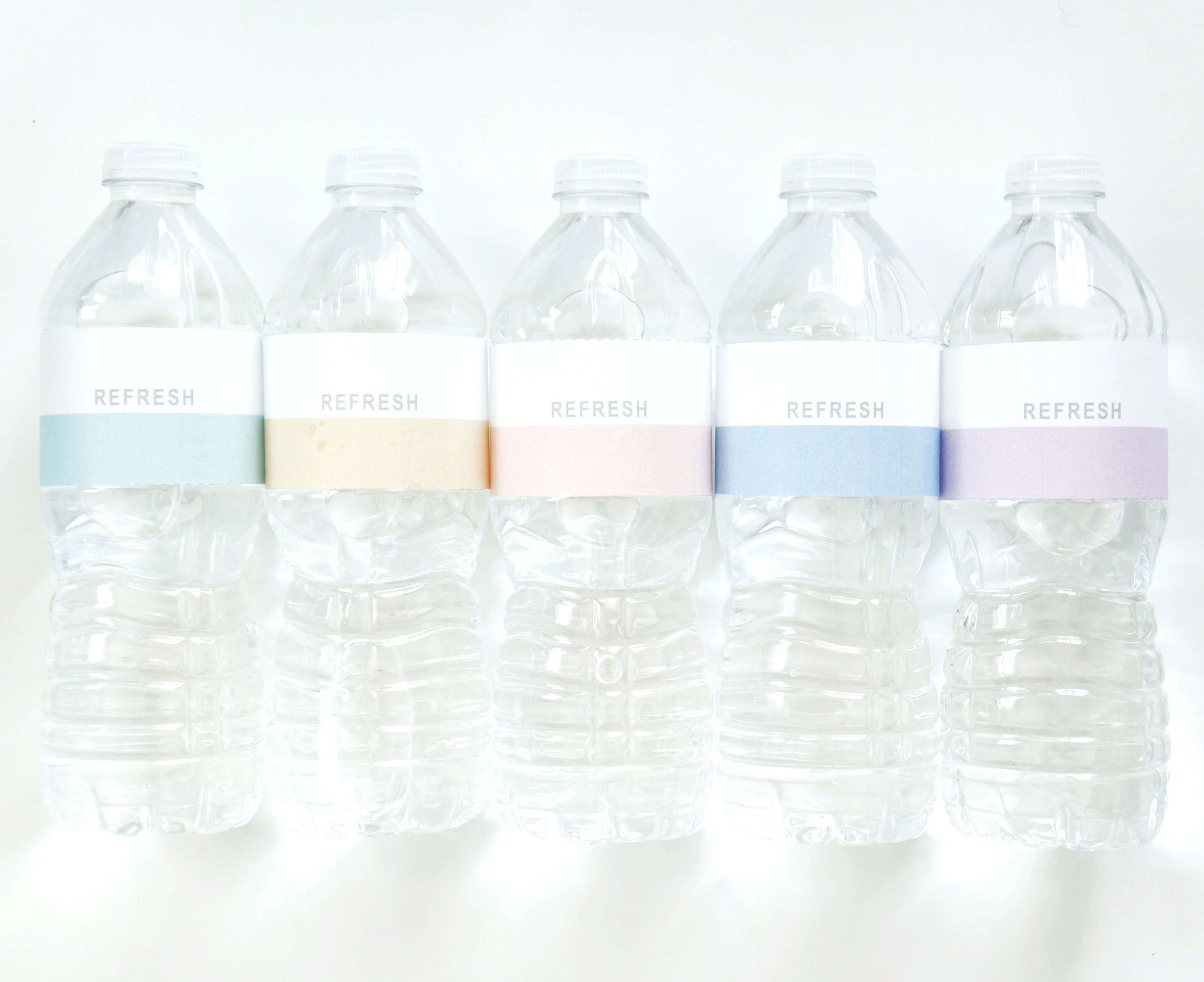 Dipped Printable Water Bottle Label