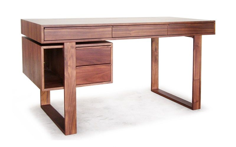 Walnut Timber Overlay On Engineered Wood Top Solid Walnut Legs 150 X 65 X 75 Cm Walnut Timber Engineered Wood Cable Storage