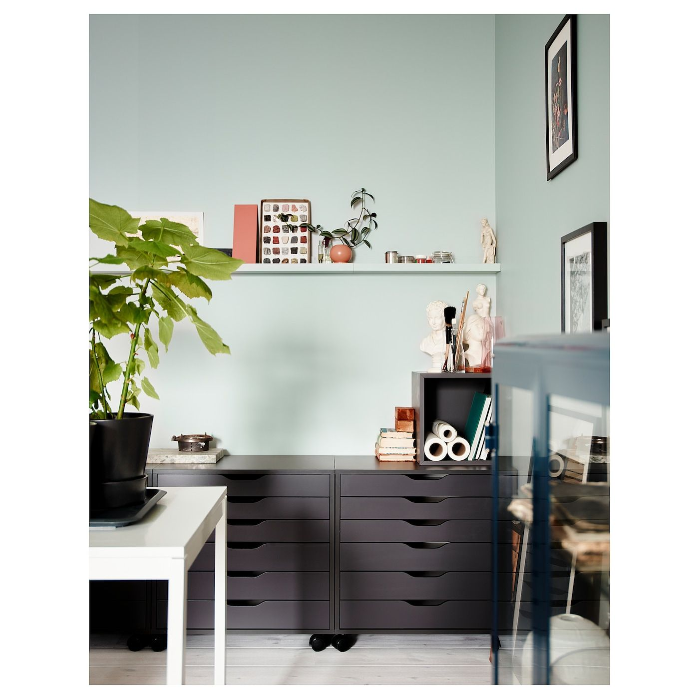 """alex drawer unit on casters  gray 26 38x26 """" in 2020"""