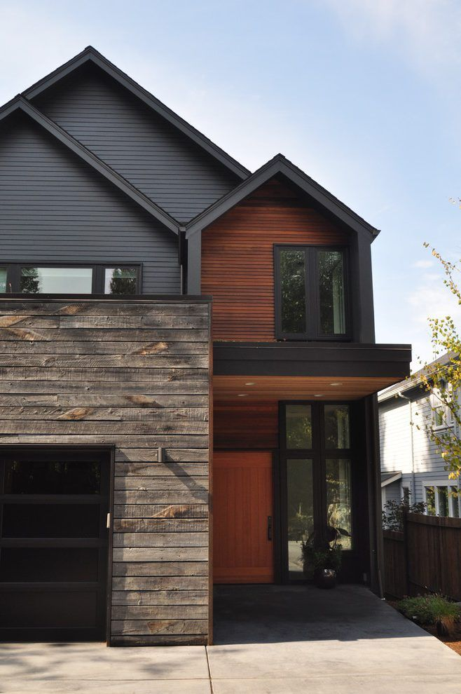 Recliamed Exterior Siding Exterior Contemporary With Rustic Wood