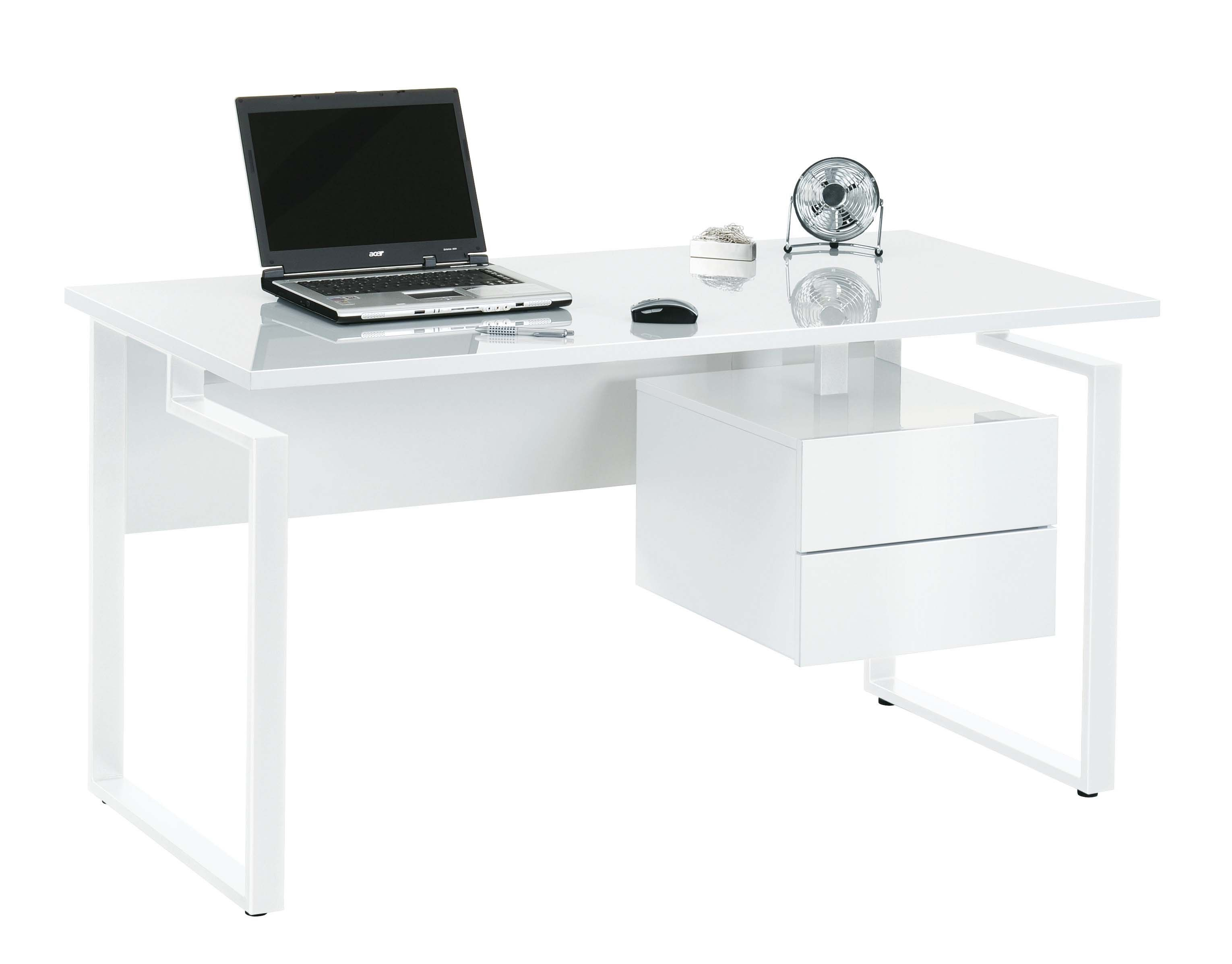 High Gloss White Desk From Jahnke Contemporary Home Office Furniture White Gloss Computer Desk Home Office Furniture Sets
