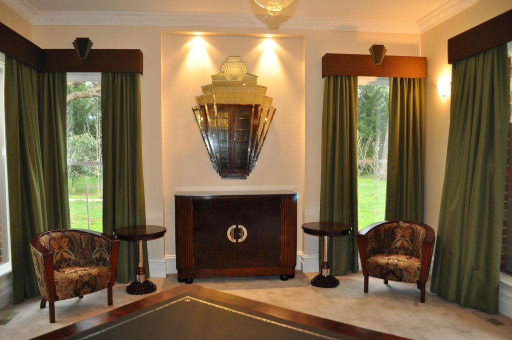 deco office. Buy Quality Curtains With Padded Pelmet In Art Deco Office From Timeless Interior Designer, Australia. Find A Matching