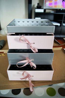 { Carnet DIY } Un meuble 3 tiroirs avec mes glossybox | Boîte à bijoux diy, Boîte à bijoux en ...