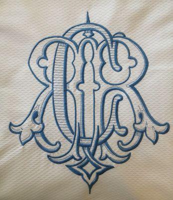 vintage monogram No. Four Eleven
