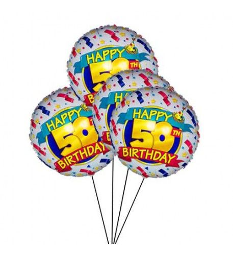 Perfect For A 50th Birthday Make Someone S Extra Special By Sending This 4 Stylish Helium Filled Balloon Ready Surprise