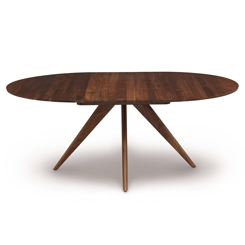 Copeland Catalina Walnut Round Extension Dining Table American Made In 2020 Extendable Dining Table Modern Round Extension Table Round Extendable Dining Table