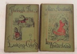Alices Adventures in Wonderland, Lewis Carroll, Peoples Edition, 1892, Thirtieth Thousand, 42 illustrations by John Tenniel Through the Looking Glass, Lewis Carroll, Peoples Edition, 1892, Twentieth Thousand, 50 illustrations by John Tenniel