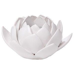 Lotus Flower Tealight Candle Holder - White