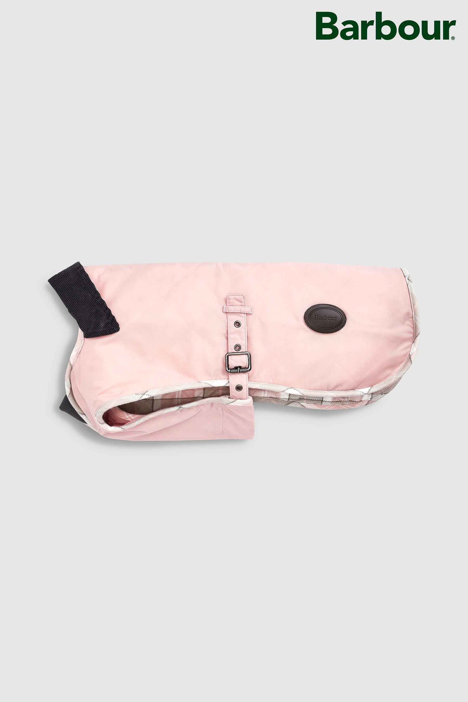 pink dog barbour coat