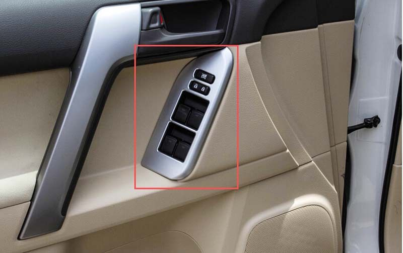 Door Handle Holder Window Lift Swich Cover Trim 4pcs Fit For Toyota Prado Fj150 2014 2015 Interior Accessories Door Handles Car