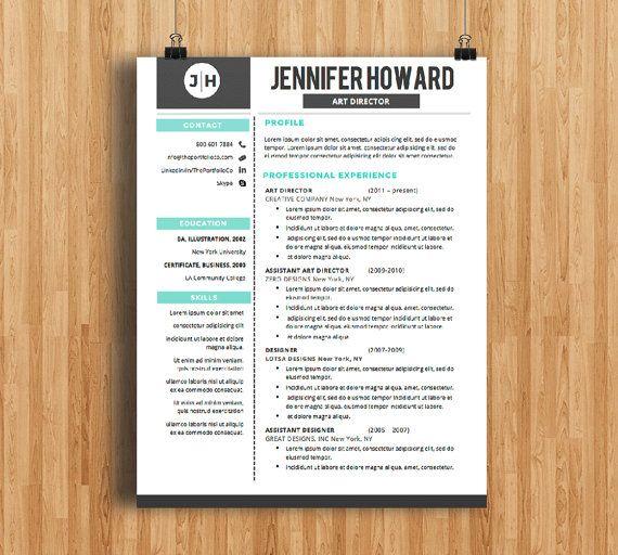 Resume Template CV Template + Cover Letter Modern Resume Designs - resume template for mac