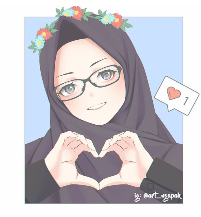 Pin oleh Takia Farzan di Anime Muslimah Kartun