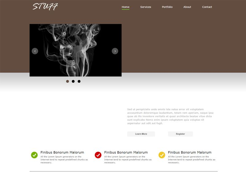 Stuff Free Bootstrap Template For Company is a great template for - company portfolio template