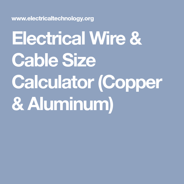 Electrical wire cable size calculator copper aluminum electrical wire cable size calculator copper aluminum today we are here with another comprehensive copper and aluminum wire size calculator awg swg keyboard keysfo Image collections