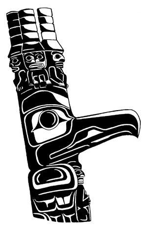 Potlatch Totem Pole Northwest Coast Native Indian style ...