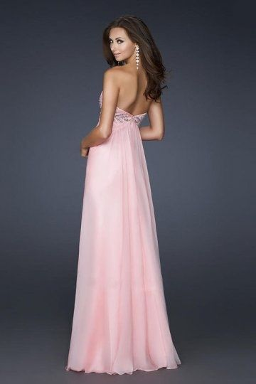 Robe bal rose pale