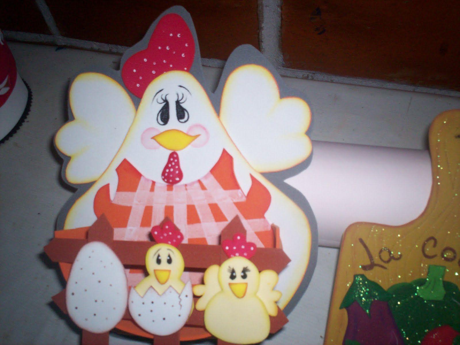 moldes de gallinas en foami - Buscar con Google | manualidades con ...