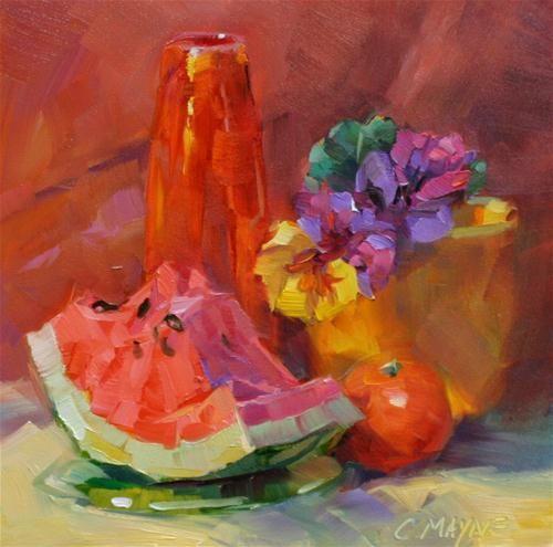 """""""Slice of Summer"""" - Original Fine Art for Sale - © Carole Mayne"""