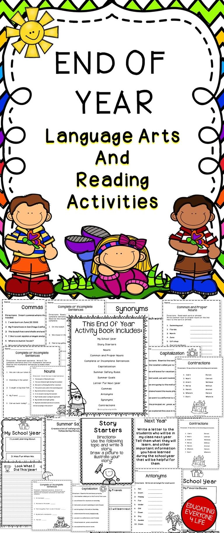 writing activities for year 4 students