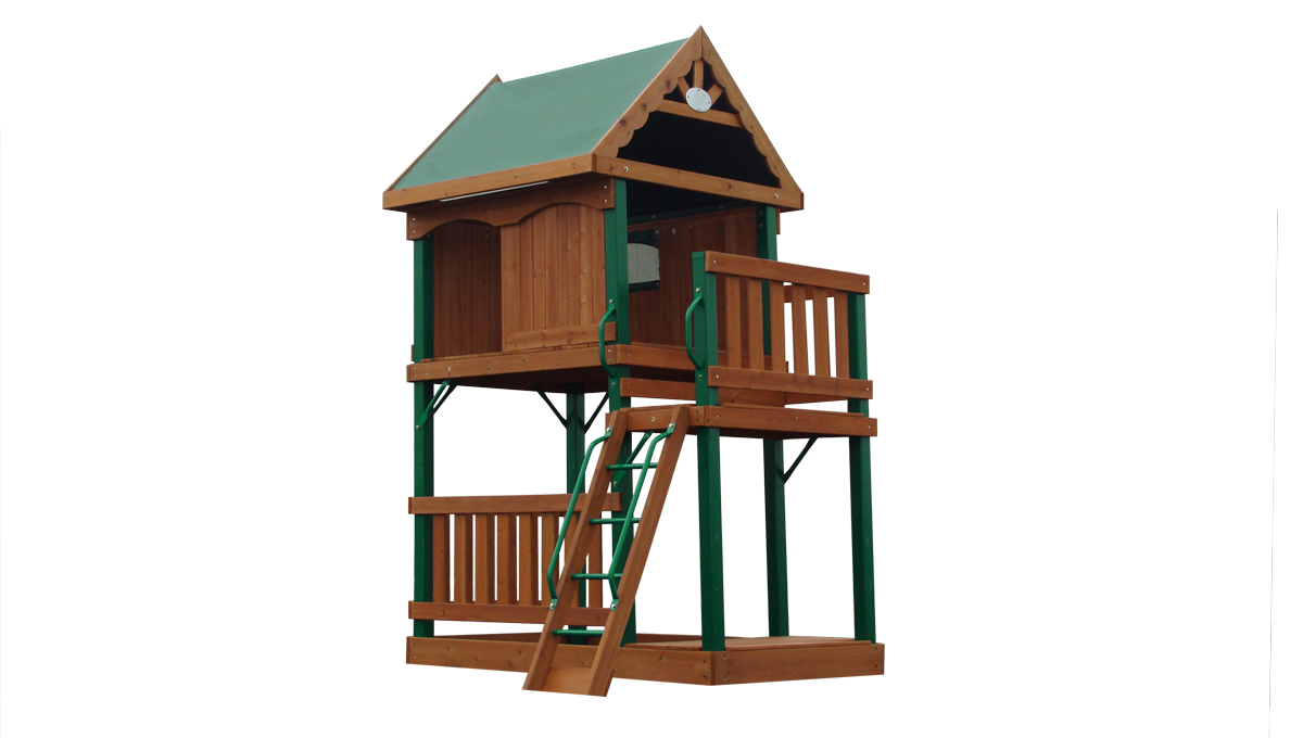 this backyard discovery next generation wooden playset has a
