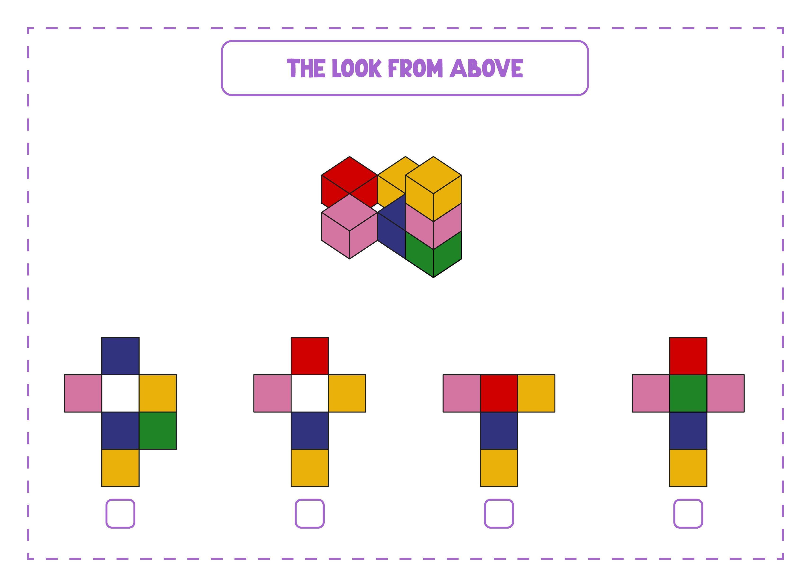 Look From Above Game Printable Worksheet Kindergarten